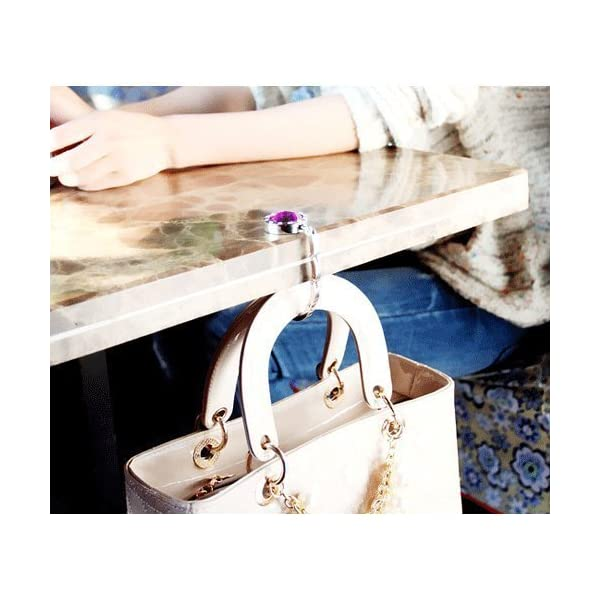 SciencePurchase – 12 Piece Colorful Diamond Folding Section Handbag Hook