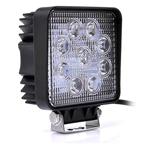 Linterna 27 / 48W Ingeniería Luz delgada Sección delgada LED Luz de Foco Luz Foco de búsqueda Luz de Ingeniería de Luz Off-Road (Color : 27W)