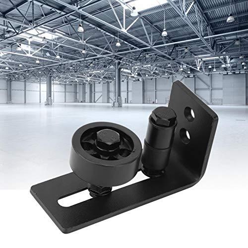 Material de acero negro Guía de montaje en puerta Guía de puerta Resistente al desgaste 8 configuraciones diferentes, para puerta de granero