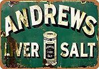 アンドリュース肝臓塩錫サイン壁の装飾金属ポスターレトロプラーク警告サインオフィスカフェクラブバーの工芸品