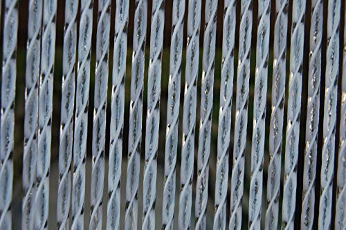 La Tenda Rideau de Porte en PVC Blanc Ascona 90x210 cm