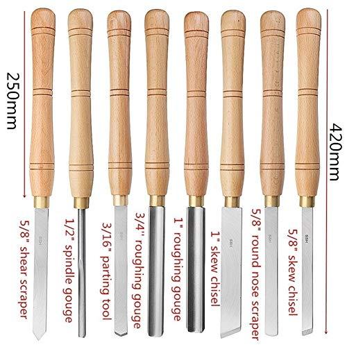 Práctica profesional Cincel de madera Torno Pasando mango de la herramienta a estrenar de acero de alta velocidad Con Madera Tratamiento de la madera Herramienta 8 Tipos 1 x herramienta madera Cincel