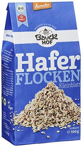 Bauckhof Bio Bauck Demeter Haferflocken Kleinblatt (6 x 500 gr)
