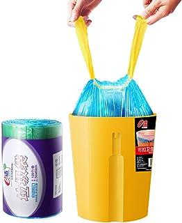 Manfâ Basura Cierre Automático, 50 * 60 cm, 30 L 100 bolsas, azul y Extra regalo 10L 8 bolsas Apto para cocina office dormitorio baño jardin y patio exterior.