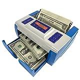 SSSY Mini Portatile Contatore di Banconote, UV/MG Multivaluta Rilevatore di Banconote False con Display LED, Alimentazione a Batteria, Ricarica per Auto