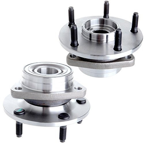 ECCPP Wheel Hub Bearing Front fits Dodge Ram 1500 1994 1995 1996 1997 1998 1999 2-Wheel ABS 4WD 4x4 Only 5 Lugs 515006 2pcs