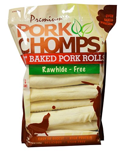 Scott Pet 18 Count Pork Chomps Premium Baked 8' Rolls (1 Pouch), 2.75 Ounce (DT852)