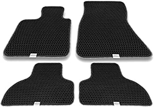 Motliner Floor Mats, Custom Fit with Dual Layered Honeycomb Design for BMW X5 F15 2014-2018, X6 F16 2015-2018. All Weather Heavy Duty Protection for Front and Rear. EVA Material, Easy to Clean.