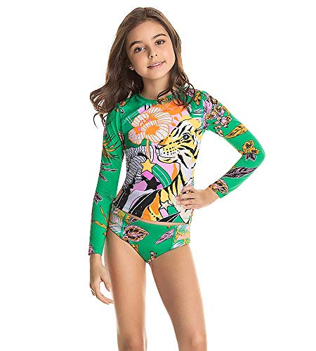 Maaji Mädchen Kids Swimwear & Beachwear Rashguard-Set, grün, 38 DE