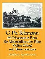 TELEMANN - Trio Sonata en Fa Mayor (TWV:42/f 8) para Flauta, Violin y BC (Partitura/Partes)