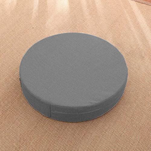 KingMSPG Cojín redondo para silla de 40 cm, grosor 5/8 cm, cojín de asiento de 45/50 cm, suave cojín de asiento para interior y exterior (50 x 50 x 5 cm, gris oscuro)