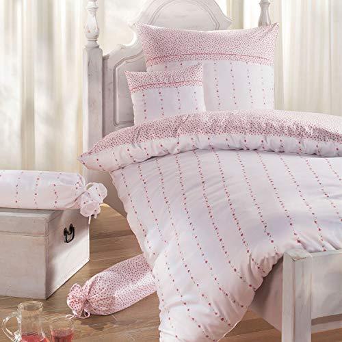 Janine Design Edelflanell Bettwäsche Chinchilla S 78007-01 1 Bettbezug 155 x 220 cm + 1 Kissenbezug 80 x 80 cm