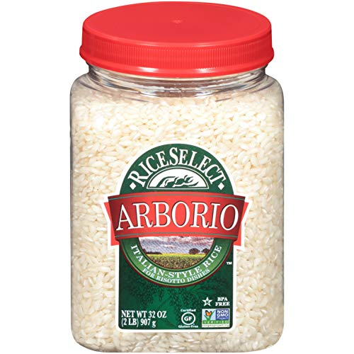 RiceSelect Arborio Rice, Risotto Rice, Gluten-Free, Non-GMO, 32 oz (Pack of 1 jar)