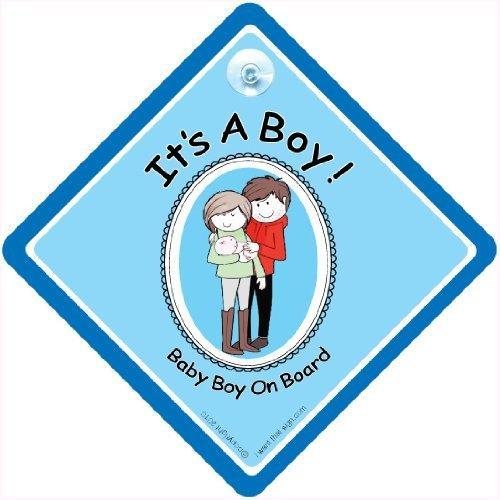 C'est un garçon, c'est un garçon voiture Panneau panneau, son un garçon, Baby Boy On Board, Bébéà Bord, Nouveauté Voiture Panneau, Coque, bébéà bord, autocollant, en panneau, bébé, Paternité, Maternité