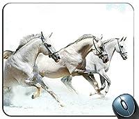 カスタマイズされたマウスパッド長方形のマウスパッドゲーミングマウスマットを実行している馬