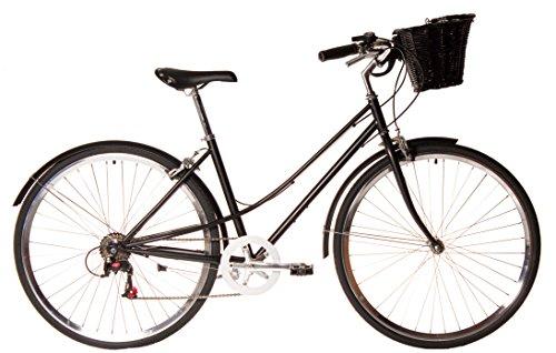 Kamikaze Kawaii bicicleta híbrida paseo 7 velocidades negra