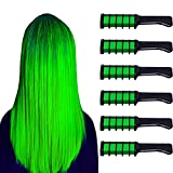 Green Hair Chalk, Temporary Bright Hair Chalk Comb Washable Hair Dye Perfect Gifts for Girls Kids Party, Cosplay, St. Patrick's Day, Halloween and Christmas DIY