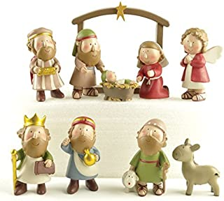 ENNAS Set of 10 Christmas Holiday Nativity Scene includes Stable, Joseph, Jesus, Mary and Wisemen