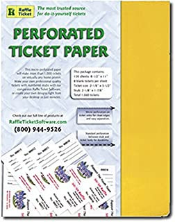 Perforated Ticket Paper (Goldenrod 24lb Bond)