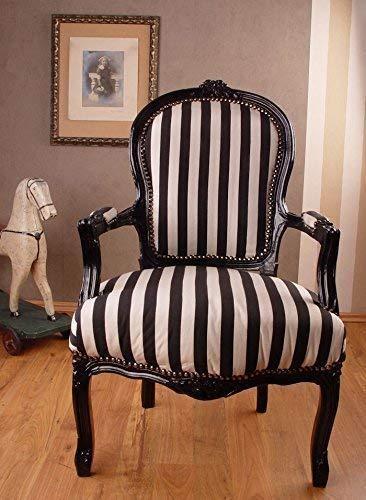 Nostalgischer Sessel/Stuhl/Armlehnsessel/Armlehnenstuhl/Sitz mit lieblichem geschnitztem Zargenrahmen aus Holz und zudem im angesagten Rokoko Stil - Palazzo Exclusive