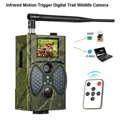 AMHDEE Wildkamera Fotofalle 16MP 1080P Full HD Jagdkamera 120°Weitwinkel 20m Nachtsichtkamera mit Bewegungsmelder Überwachungskamera für Wildtierjagd Heimsicherheit - Versand aus Deutschland