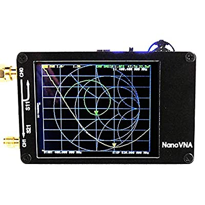 autooler NanoVNA Network Analyzer MF HF VHF Antenna Analyzer 50Khz-900Mhz, Measuring S-Parameter Voltage Standing Wave Ratio, Phase, delay, Smith Chart
