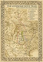 The Great Lonesome Dove & Comanche Moon Trails Map 2nd Ed. 16w x 20h