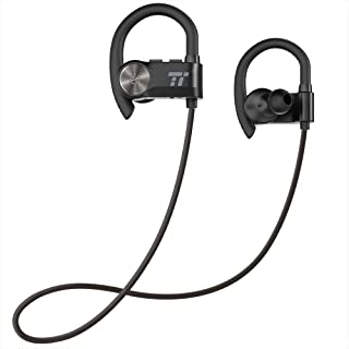 Bluetooth Earbuds, TaoTronics Sport Headphones with Adjustable Earhooks, Wireless Earphones for Workout (IPX6 SweatProof, aptX Lossless Sound, 8 Hours Playtime, CVC 6.0 Noise Cancelling Microphone)