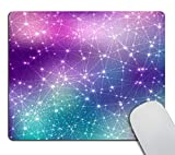 Smooffly Magic Space Cosmic Constellation Mouse Pad Custom,Starry Constellation Mousepad Non-Slip Rubber Gaming Mouse Pads Rectangle Mousepads for Computers Laptop