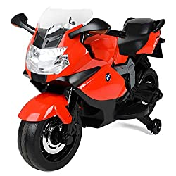 OFFICIAL LICENSED PRODUCT: From BMW; features a fun red BMW motorbike design FOOT OPERATED ACCELERATOR: Operated by kids with their own foot operated pedal; reach speeds up to 4 km/hour WORKING HEADLIGHTS AND ENGINE SOUNDS: Features a real key start ...