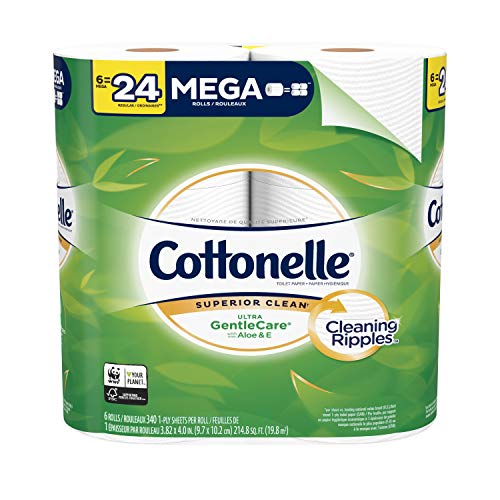 Cottonelle Ultra GentleCare Toilet Paper, 6 Mega Rolls