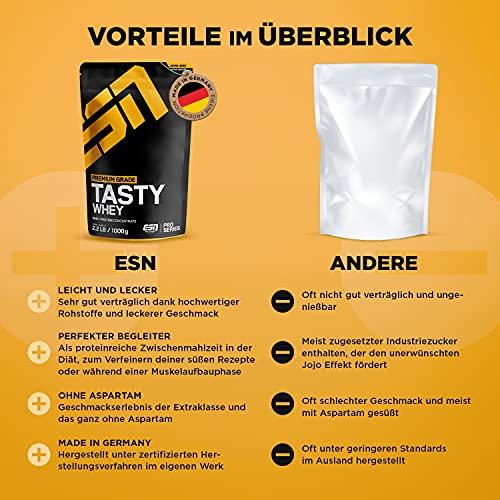 ESN Tasty Whey, Pro Series, Chocolate, 1er Pack (1 x 1000g Beutel) - 3