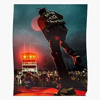 Details about  /1651 Post Malone Travis Scott Hip Hop Rapper Fabric Poster 21x14 27x40