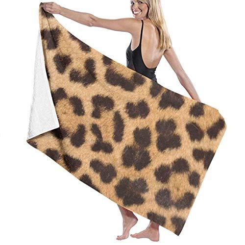 LREFON Toallas de baño con patrón de Piel de Leopardo Toalla de Ducha de Secado rápido a la Moda Toalla de natación de Playa Suave con Personalidad (31.5X51.2 Pulgadas)