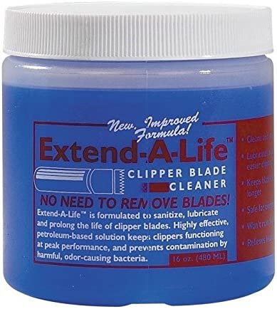 Blade Cleaner Rinse for Pet Grooming Clippers Extends Life Protects Blades 16 oz with Dispenser product image