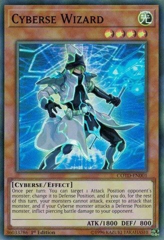 Yugioh 1st Ed Cyberse Wizard COTD-EN001 Super Rare 1st Edition Code of the Duelist Cards