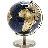 Lesser & Pavey Globe Vintage Rotatif doré et Bleu...