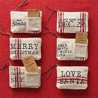 Mud Pie Christmas Grainsack Gift Pouch