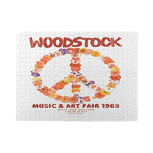 Woodstock Jigsaw Puzzle 500 Piece Wooden Puzzle Family Decorations, Unique Birthday Present Suitable for Teenagers and Adults