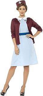 Smiffy's Vintage Nurse Costume, Multi-Colour, Small, 42796S