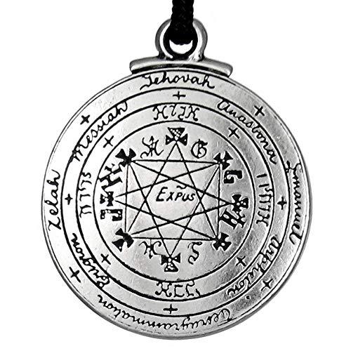 Pewter Pentacle of Solomon Pendant - 1.25 Inch Diameter