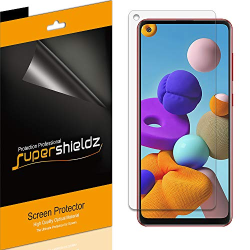 Supershieldz Bildschirmschutzfolie für Samsung Galaxy A21s, blendfrei & Anti-Fingerabdruck, matt, 6 Stück