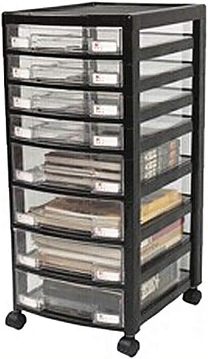 store QSJY File Cabinets 8-Layer Transparent Max 74% OFF Pulle Type Plastic Drawer