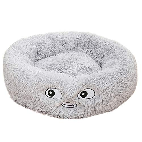 JIEHED Pet Bed, Plush Donut Bed Cats Nest, Warm Soft Comfortable for Sleeping Nesting Cat Bed,Deep Dish Cuddler Cat and Dog Bed,Self-Warming Pet Bed
