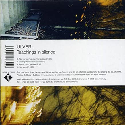 Ulver - Teachings in Silence (2019) LEAK ALBUM