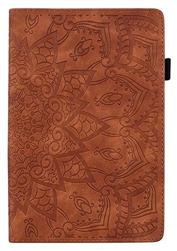 GYY Accesorios De Pestañas para Huawei MediApad T3 10 9.6 Pulgadas AGS-W09 / L09 / L03, Flower Funda De Cuero De PU De Embósal para Huawei MediaPad T3 10 (Color : Brown)