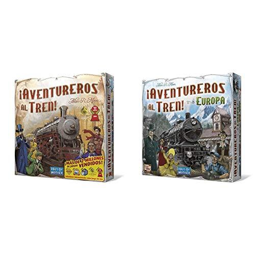 Days of Wonder Aventureros Español Sube al Tren de la Aventura, Multicolor, Talla única (DW7281) + Aventureros Al Tren, Juego de Mesa (Lfcabi127)