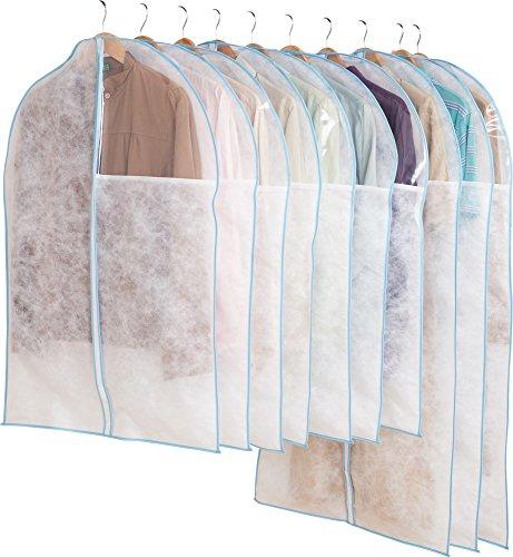 アストロ 洋服カバー 10枚 スーツサイズ 不織布 ファスナー 透明窓付き 底までカバー 126-25