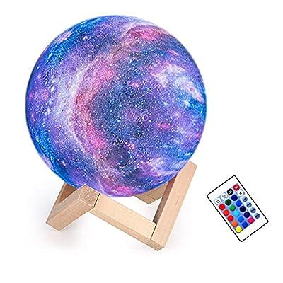Amazon - 50% Off on Moon Lamp Kids Night Light Galaxy Lamp 5.9 inch 16 Colors Light