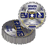 7-1/4' x 24 Tooth Circular Saw Blades (Pack of 20)